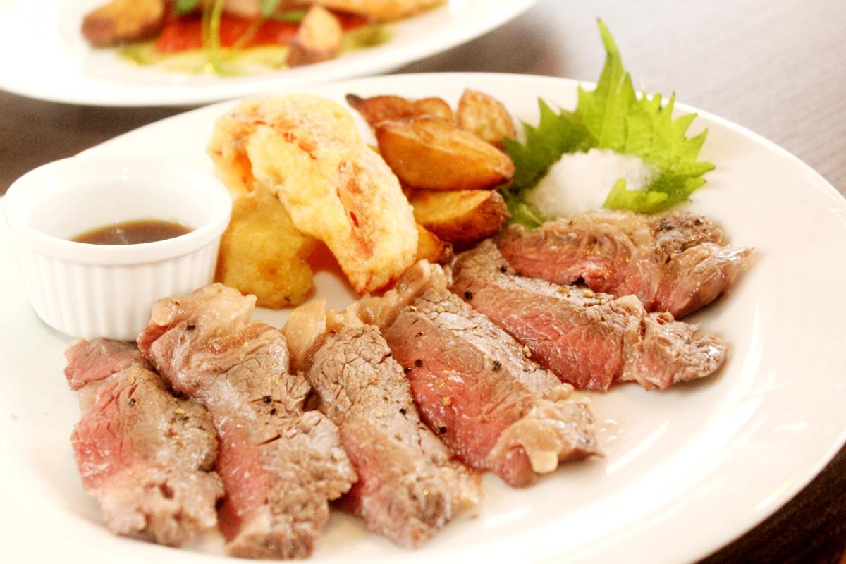 岩手短角牛のステーキ 赤ワインソース